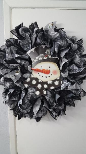 Black and White Snowman